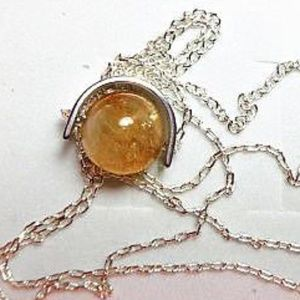 Jewelry - Sterling Silver and Gold Rutilated Necklace